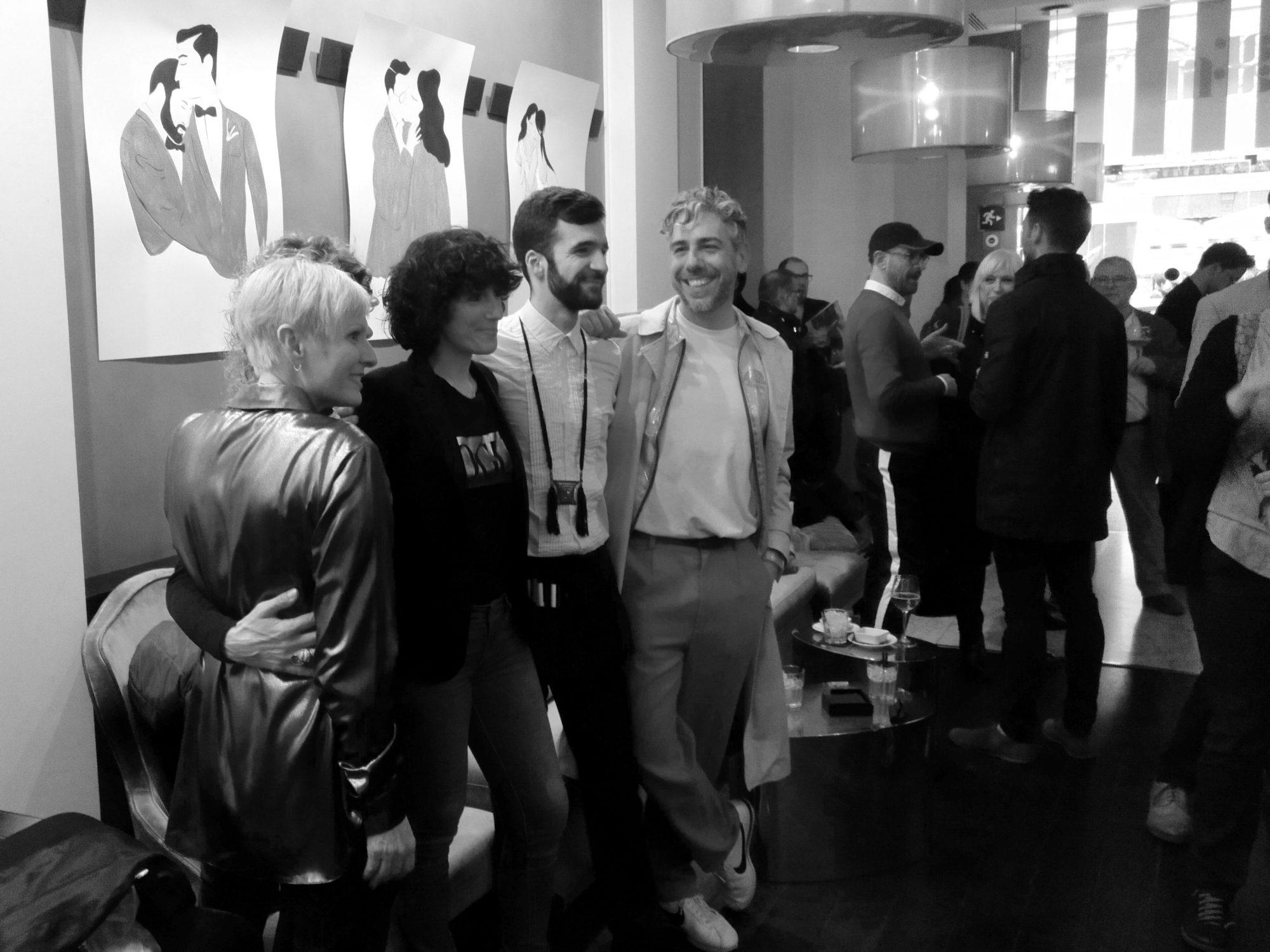 Joel Miñana durante la presentación de su exposición en Hotel Murmuri de Barcelona